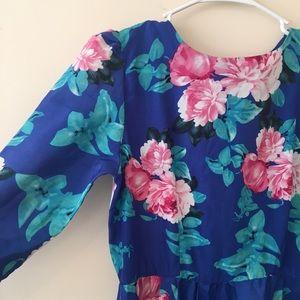 Vintage Floral Long Dress